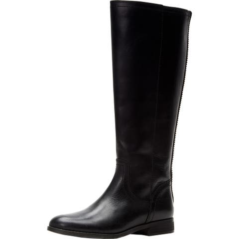 Frye and Co. Womens Jolie Riding Boots Leather Knee-High - Black