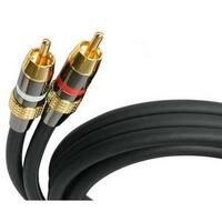 """StarTech AUDIORCA50 StarTech.com 50 ft Premium Stereo Audio Cable RCA - M/M - RCA Male - RCA Male - 50ft - Black"""