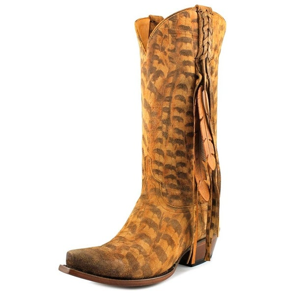 Lucchese Tori Pointed Toe Suede Western Boot