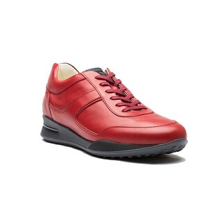 Tod's Men's Leather Allacciato Sport T Project Low Top Sneakers Shoes Red