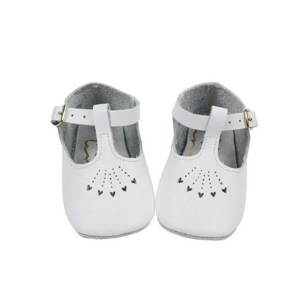 Heart Cutout Soft Sole Crib Shoes