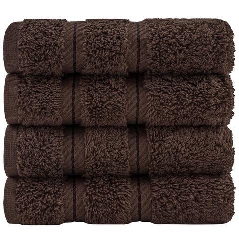 American Soft Linen Premium Genuine Turkish Cotton 4-Piece Washcloth Set