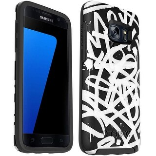 OtterBox Symmetry Series Case for Samsung Galaxy S7 EDGE - Non-Retail Packaging - Graffiti Black White - Graffiti Black/White