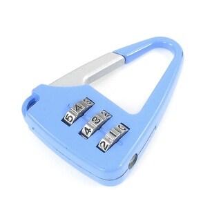 Unique Bargains Metal Handbag Shaped 3 Digit Resettable Combination Safe Lock Light Blue