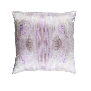 """22"""" Wisteria Purple, Cool Gray and Cream Woven Decorative Throw Pillow"""