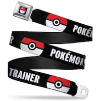 Pok Ball Full Color Black Pok Ball Close Up Pokmon Trainer Black White Seatbelt Belt