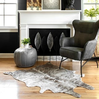 Link to nuLOOM Tinley Spotted Faux Cowhide Area Rug Similar Items in Farmhouse Rugs