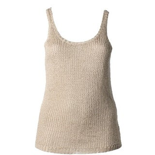Lauren Ralph Lauren Womens Plus Tank Top Sweater Linen Sleeveless