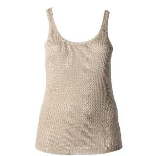Lauren Ralph Lauren Womens Tank Top Sweater Linen Blend Knit