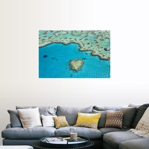 """Heart Reef, Part of Great Barrier Reef, Australia"" Poster Print"