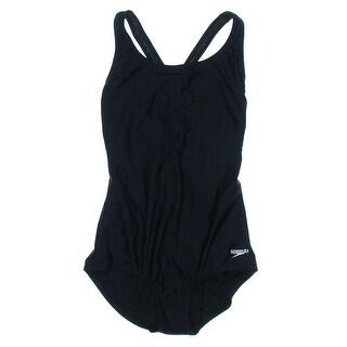 Speedo Womens Shelf Bra Compression One-Piece Swimsuit - 8