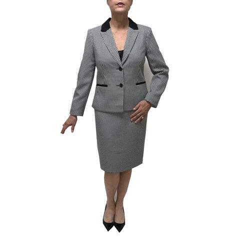 Danillo Notch Collar 2-Piece Skirt Suit Style#115686