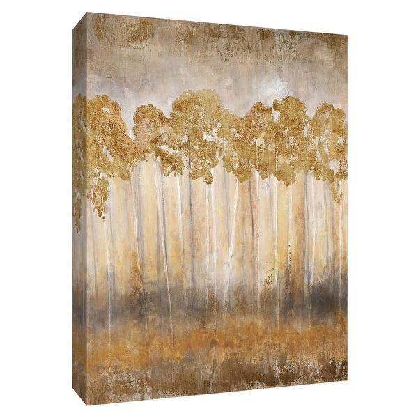 """PTM Images 9-148677 PTM Canvas Collection 10"""" x 8"""" - """"Golden Horizon"""" Giclee Trees Art Print on Canvas"""