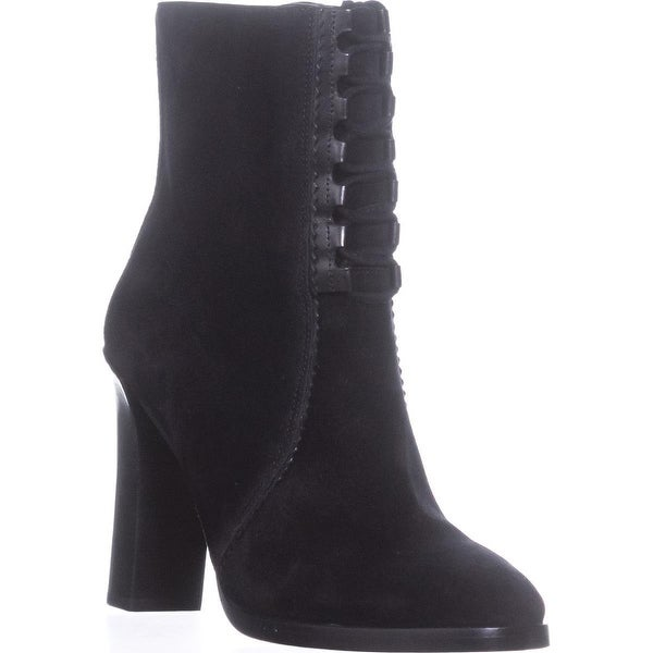 Michael Kors Collection Odile Lace Up Booties, Black - 5.5 us / 35.5 eu