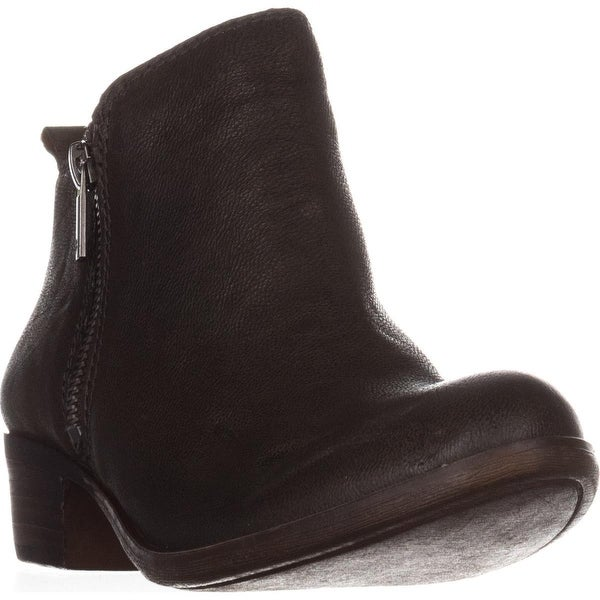 Lucky Brand Basel Side Zip Ankle Boots, Dark Moss - 5.5 us / 35.5 eu