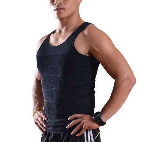 Men Body Shaper Vest Slimming Tummy Underwear Shapewear Belly Waist Lose Weight - M
