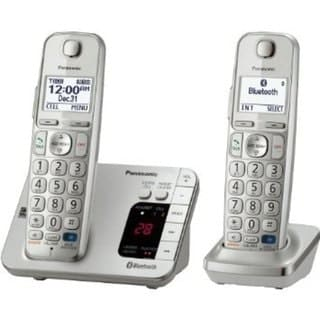 Panasonic KX-TGC222S DECT 6.0 Expandable Digital Cordless Answering System with 2 Handsets  (Refurbished)