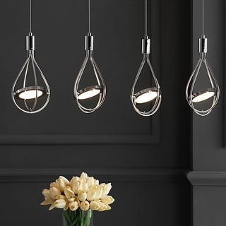 """Link to Orion 29"""" Adjustable Integrated 4-Light Pendant, Chrome by JONATHAN  Y Similar Items in Pendant Lights"""
