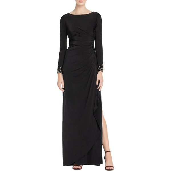 Shop Adrianna Papell Womens Petites Evening Dress Embellished Jersey ...