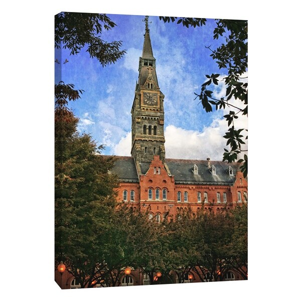 """PTM Images 9-105987 PTM Canvas Collection 10"""" x 8"""" - """"Clock Tower Georgetown University 2"""" Giclee Buildings and Landmarks Art"""