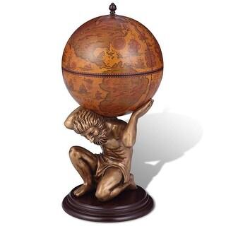 "vidaXL Globe Bar/Wine Cabinet Atlas 16.5""x16.5""x33.5"""