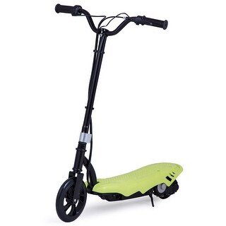 Gymax Rechargeable Electric Scooter 12 Volt Motorized Ride On Outdoor For Teens Green