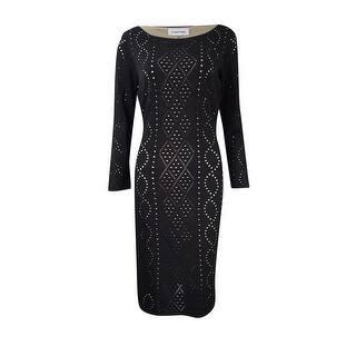 Calvin Klein Women's Plus-Size Illusion Pointelle Sweater Dress - Black|https://ak1.ostkcdn.com/images/products/is/images/direct/f4c5d94800a6a0a2d0a3e26677a5b607097721f4/Calvin-Klein-Women%27s-Plus-Size-Illusion-Pointelle-Sweater-Dress.jpg?impolicy=medium