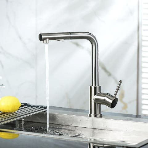 Kitchen Sink Faucet High Arch Single Handle Brushed Nickel Kitchen Faucet