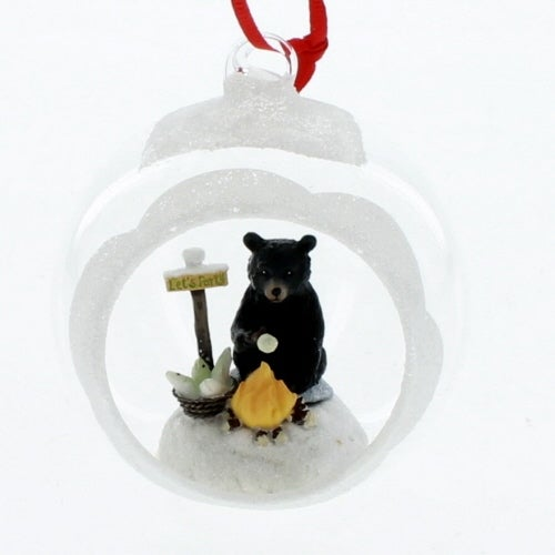 Black Bear Ball Ornament