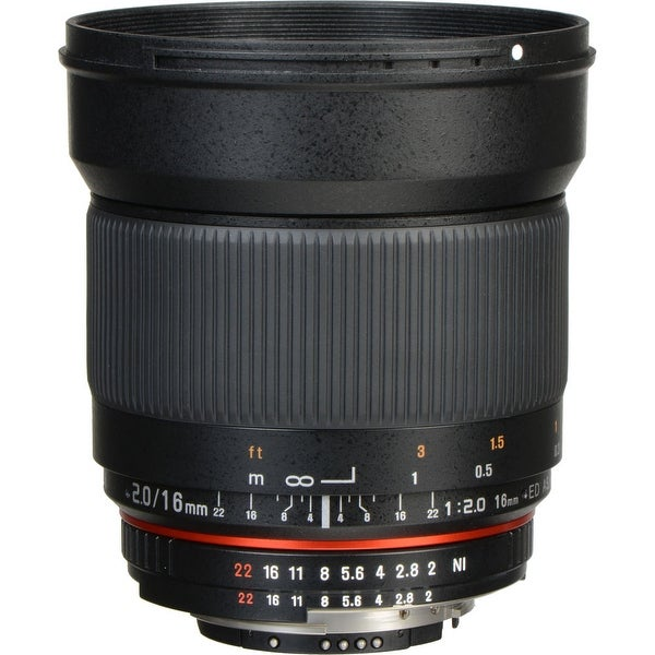 Rokinon 16mm f/2.0 ED AS UMC CS Lens for Nikon F Mount