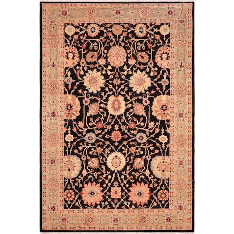 """Boho Chic Ziegler Elfriede Hand Knotted Area Rug -6'0"""" x 8'7"""" - 6 ft. 0 in. X 8 ft. 7 in."""
