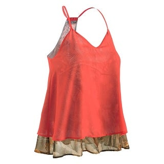Legendary Whitetails Ladies Country Girl Chiffon Big Game Camo Tank - hot coral