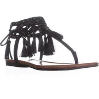 Jessica Simpson Kamel Tassel Dress Sandals, Black - 6.5 us / 36.5 eu