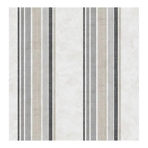 Hamilton Grey Stripe Wallpaper - 20.5 x 396 x 0.025