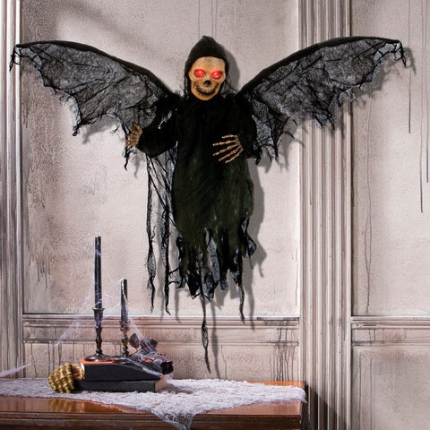 "Gemmy 73591 Halloween Animated Grabbing Reaper Lighted Decoration, 14-1/2"" x 19"" x 27-1/2"""