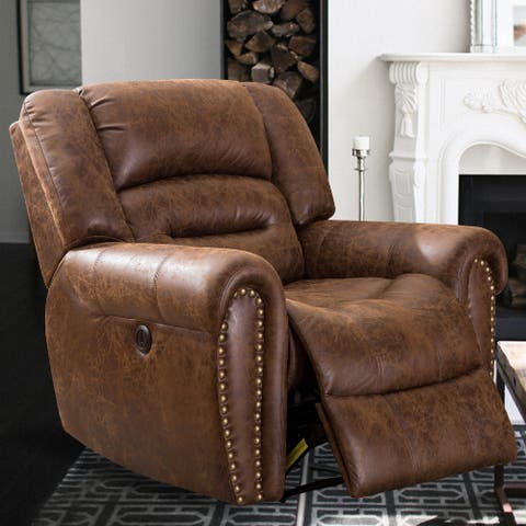 Fuax Leather Power Lift Reclining Recliner