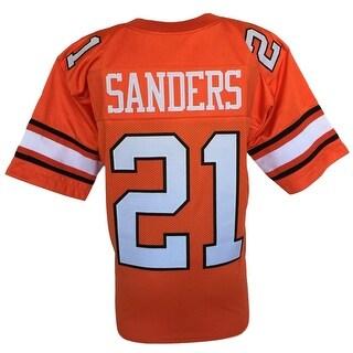 Barry Sanders Custom Orange College Style Football Jersey Large