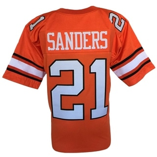 Barry Sanders Custom Orange College Style Football Jersey XL