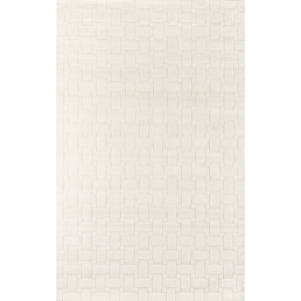 Momeni Metro Hand Tufted Wool Contemporary Solid Area Rug Overstock 9959337 Ivory 8 X 11