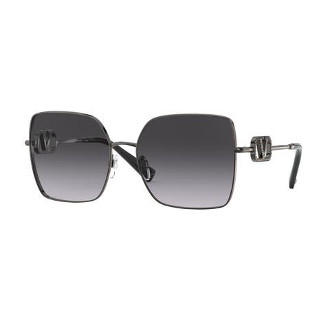 Valentino VA2041 30398G 59 Gunmetal Woman Square Sunglasses