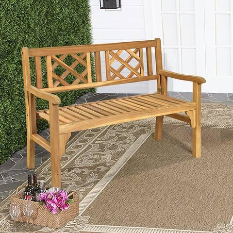 Patio Wooden Bench Foldable Acacia Garden Bench