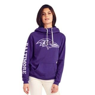 Baltimore Ravens Women's Cowl Neck Hooded Sweatshirt