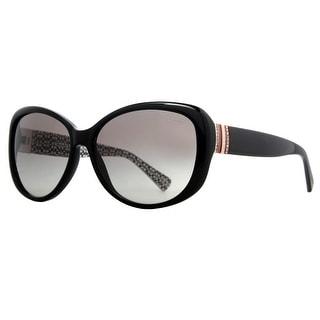 Coach HC8040B L520 Keri 5083/11 Black Grey Gradient Women's Butterfly Sunglasses - 58mm-15mm-140mm