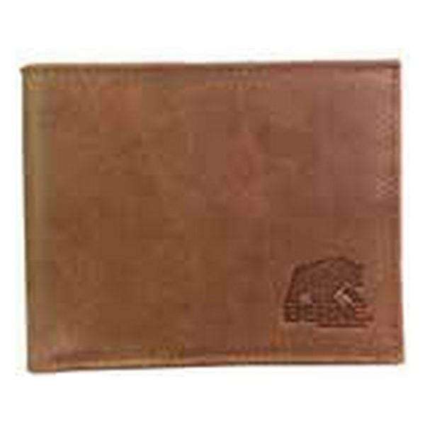 Berne Wallet Mens Pass Case Tone Stitching Logo Tan