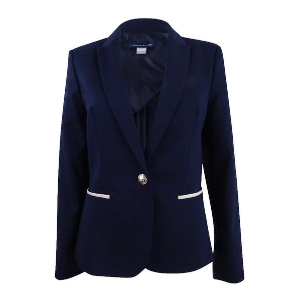 815422acb7caec Shop Tommy Hilfiger Women's Elbow-Patch Blazer - On Sale - Free ...