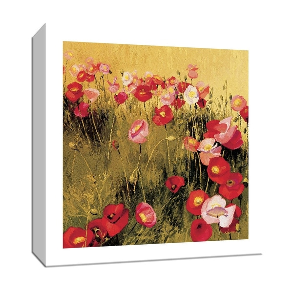 """PTM Images 9-153251 PTM Canvas Collection 12"""" x 12"""" - """"Bees Mfg Inc"""" Giclee Flowers Art Print on Canvas"""