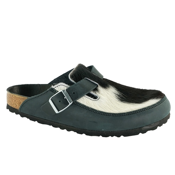 14233202f9fd Shop Birkenstock Boston Natural Leather Fur Clogs - Free Shipping Today -  Overstock - 24257613
