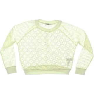 Zara Trafaluc Womens Lace Cropped Sweatshirt
