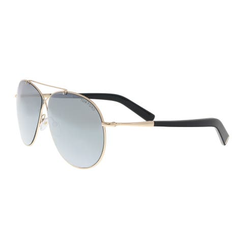 840f3a86d0c Tom Ford FT0374 S 28Q Eva Gold Aviator Sunglasses - 61-10-140