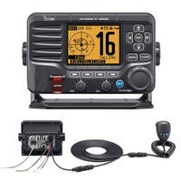 Icom M506 VHF Fixed Mount w/Rear Mic & NMEA 0183/2000 -Black - M506 31